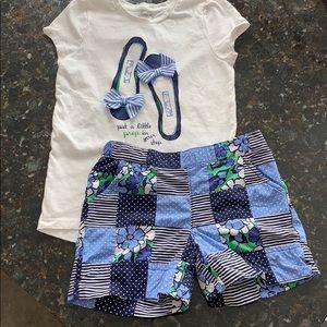 Gymboree girls shirt & short set